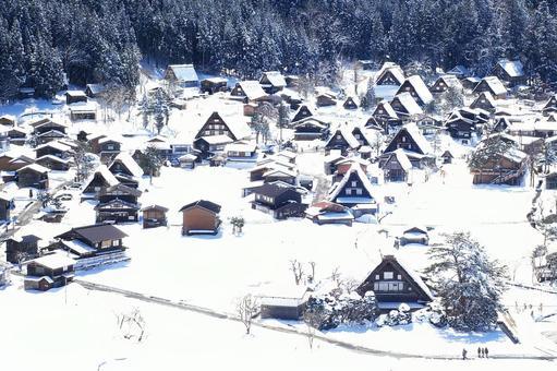 Shirakawa village of heavy snow