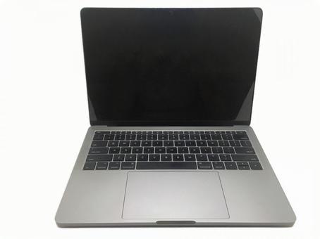 Laptop computer (white background)