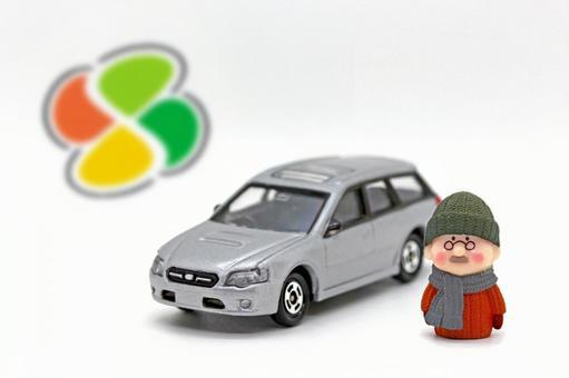 Car and senior driver