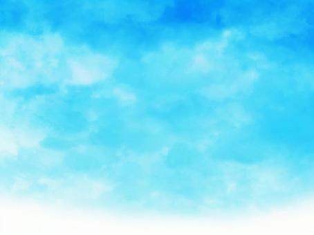 수채화 텍스처 [6] 여름 하늘