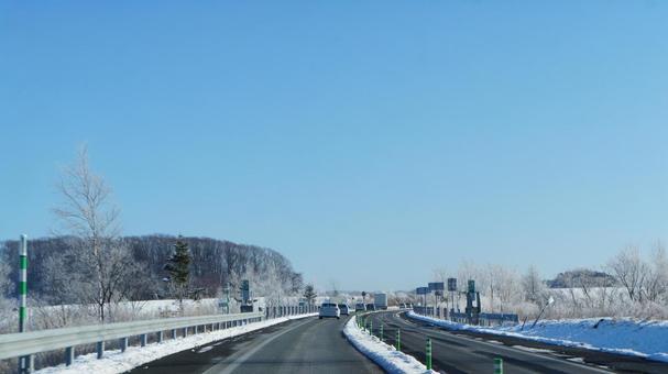 冬天的路的方式