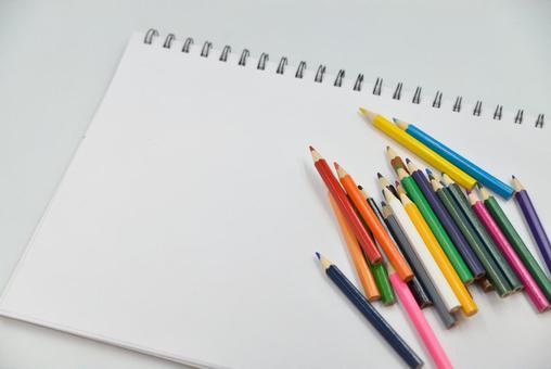 Color pencils and sketchbook