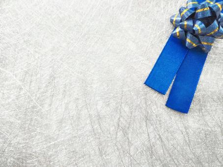 Blue ribbon silver background material