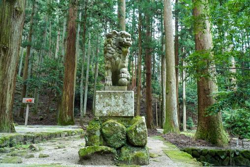 Murouryuketsu Shrine Komainu Agata