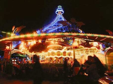 Night merry-go-round