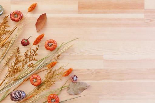 Autumn frame Fruitful autumn