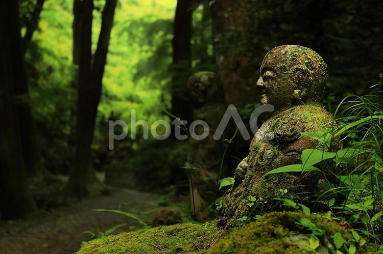 瞑想して心を静めるの写真