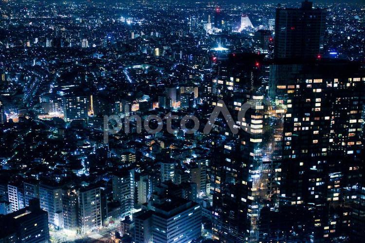 東京夜景 光の絶景3 ブルーの写真