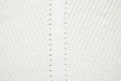 白線針織面料的背景紋理材料