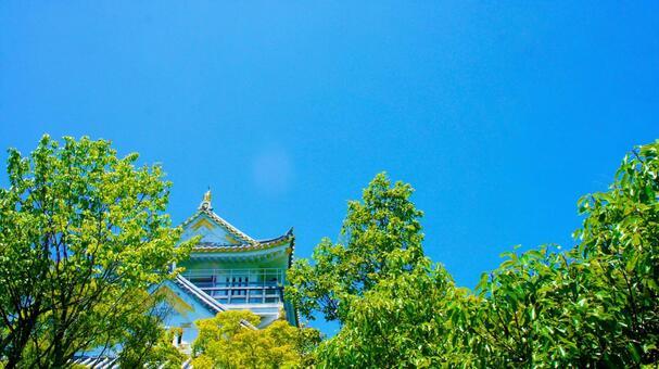 Gifu Castle in summer