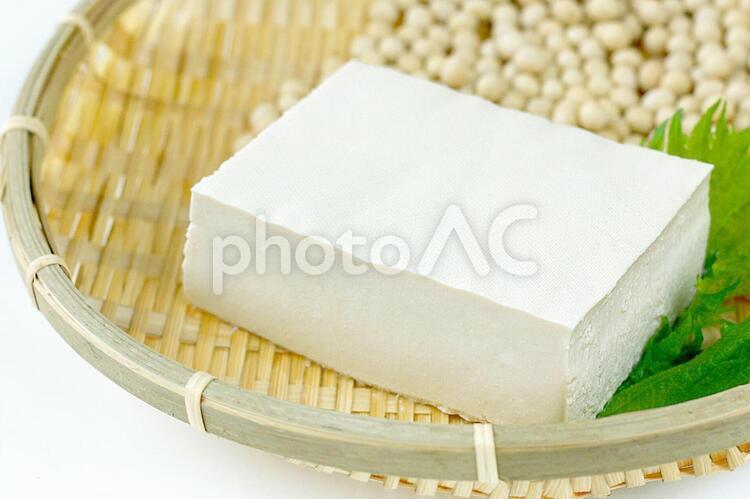 豆腐と大豆の写真
