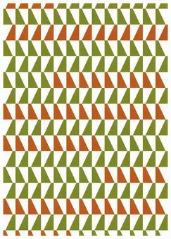 Scandinavian design oblique pattern green