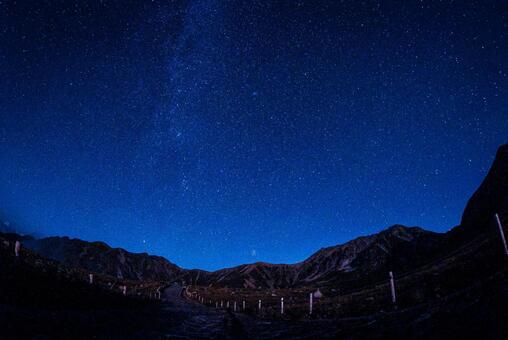 Starry sky of Tateyama Murodou (Tateyama Town, Nakaniikawa District, Toyama Prefecture)