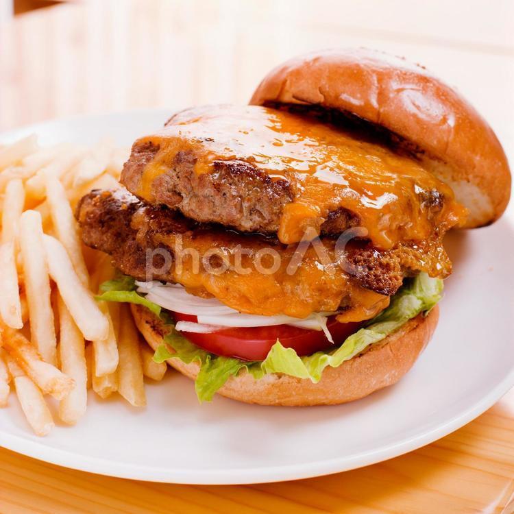 ハンバーガーセット4の写真