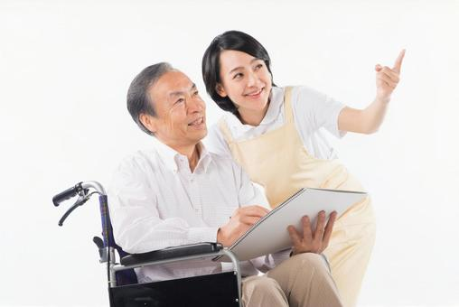 Men with wheelchairs and caregivers 7