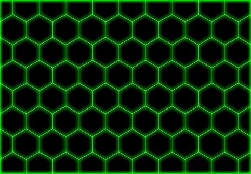 Image of green honeycomb structure