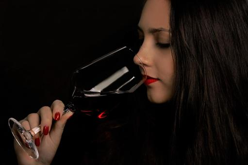 Female drinking wine 2
