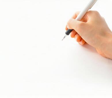 Hand writing with a ballpoint pen 0225