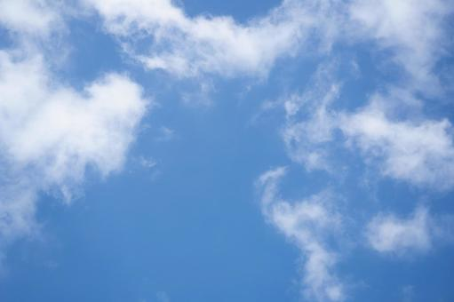 Blue sky and thin clouds background material