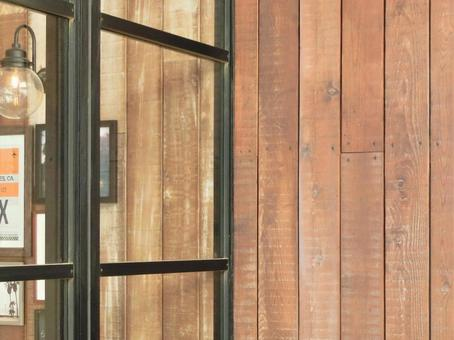 A window side where you can feel the warmth of wood