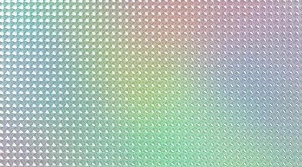 레인보우 홀로그램 배경의 3D 일러스트
