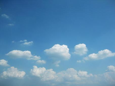 Clouds floating in blue sky 1