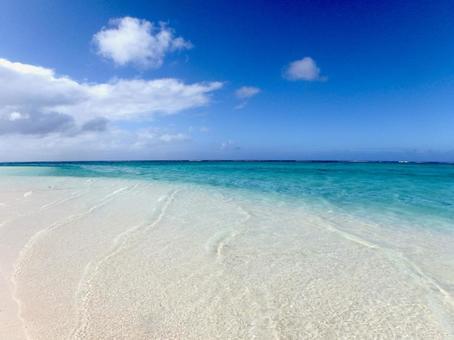 Uninhabited island beach