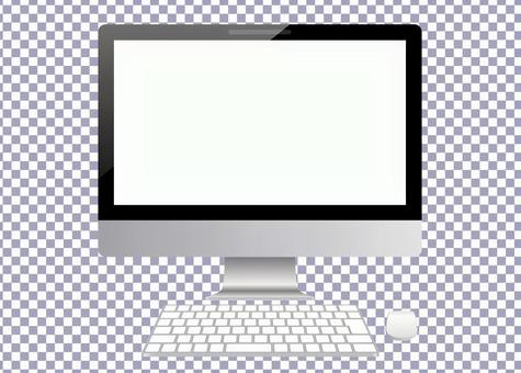 Desktop PC and Keyboard-PSD files for easy mocking