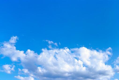 Sky blue sky text space