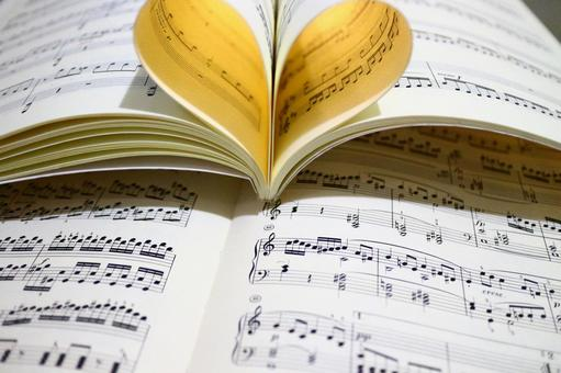 Heart made from score