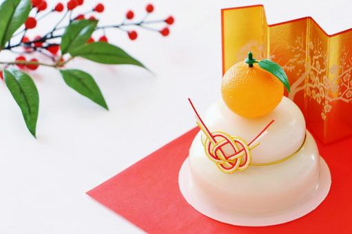 Kagami Mochi New Year's card New Year