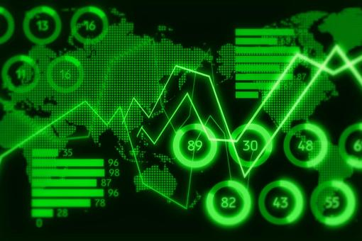 Black and green digital graph image CG background