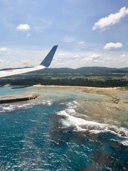 Amami Oshima seen from an airplane (vertical)