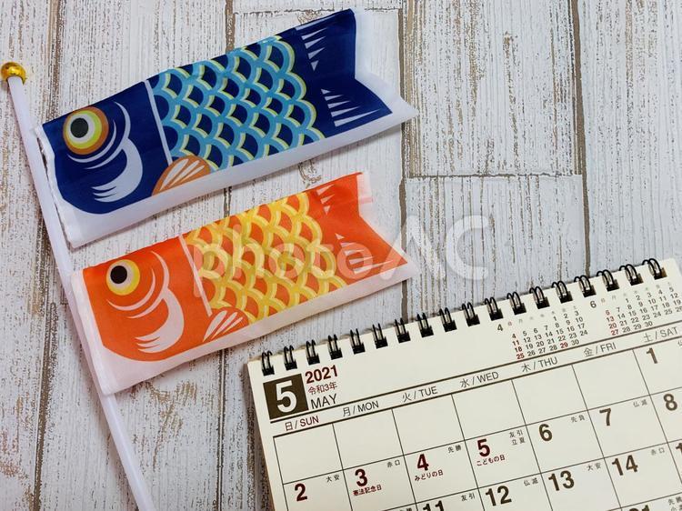 5月カレンダーの写真