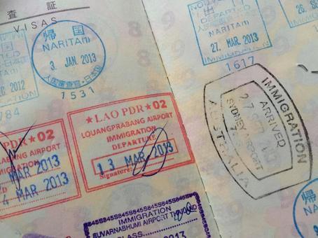 여권 출입국 스탬프
