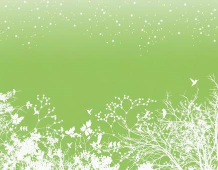 Green Illustration Paper