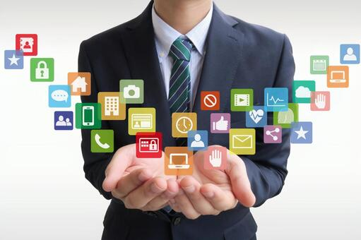 Businessmen who handle app business