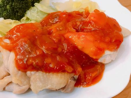 치킨 토마토 소스