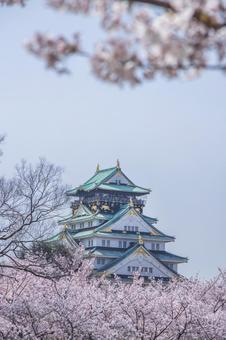 봄의 오사카 성