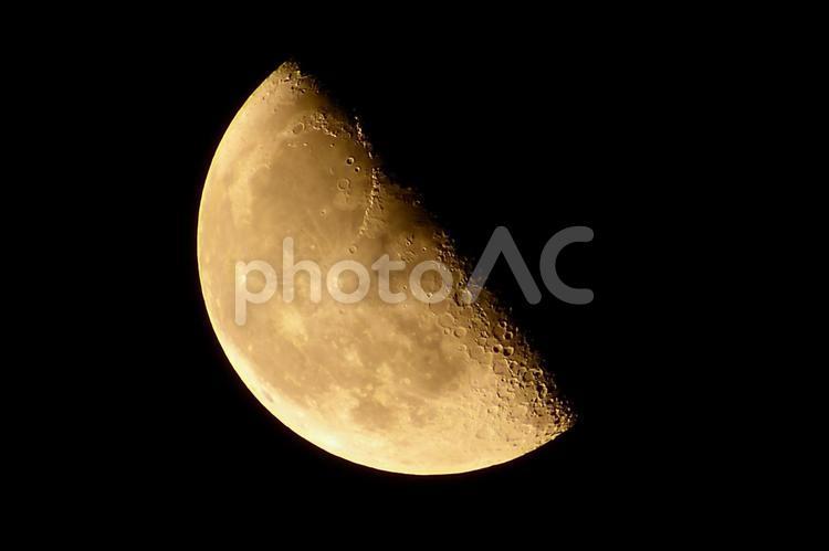 下弦の月-弓張月-(月齢21.6)の写真