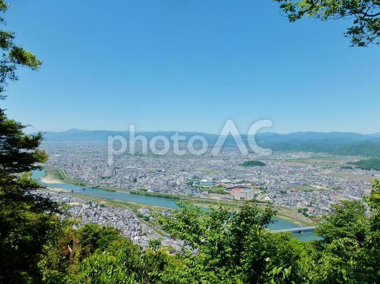 岐阜県・金華山からの眺めの写真