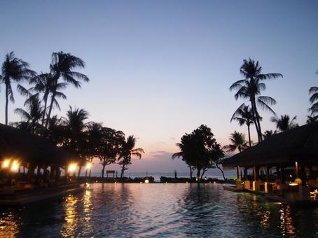 Sunset in Resort