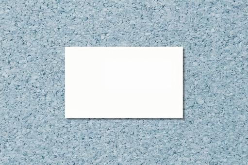 Business Card Card Cork Blue
