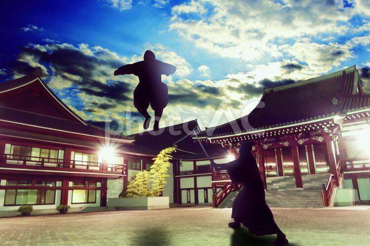 戦う侍の写真