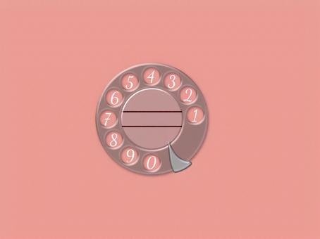 Nostalgia phone dial background Pink