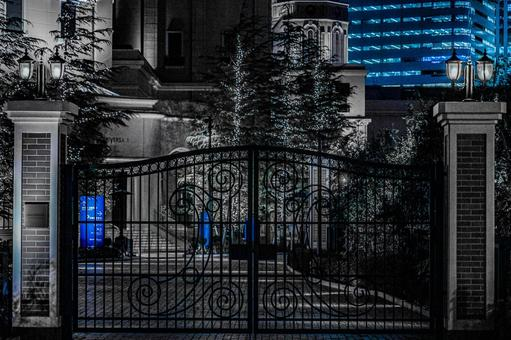Luxurious gate of Western architecture