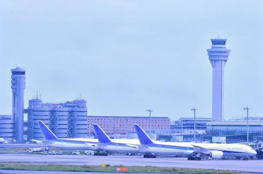 신구 관제탑과 하네다 공항