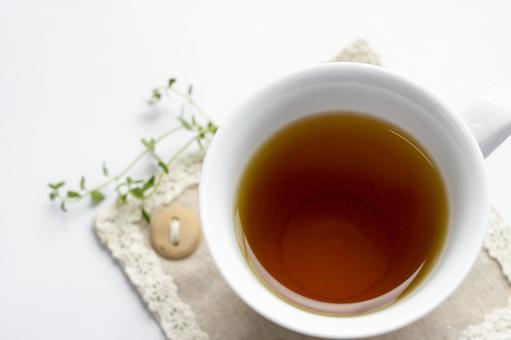 White cup herbal tea
