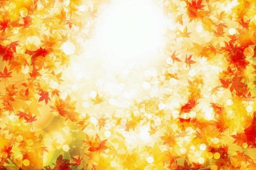 Autumn sunbeams image | Glitter background material