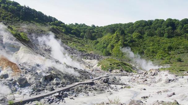 아키타 현 센 보쿠시 다마가와 온천 지옥 계곡